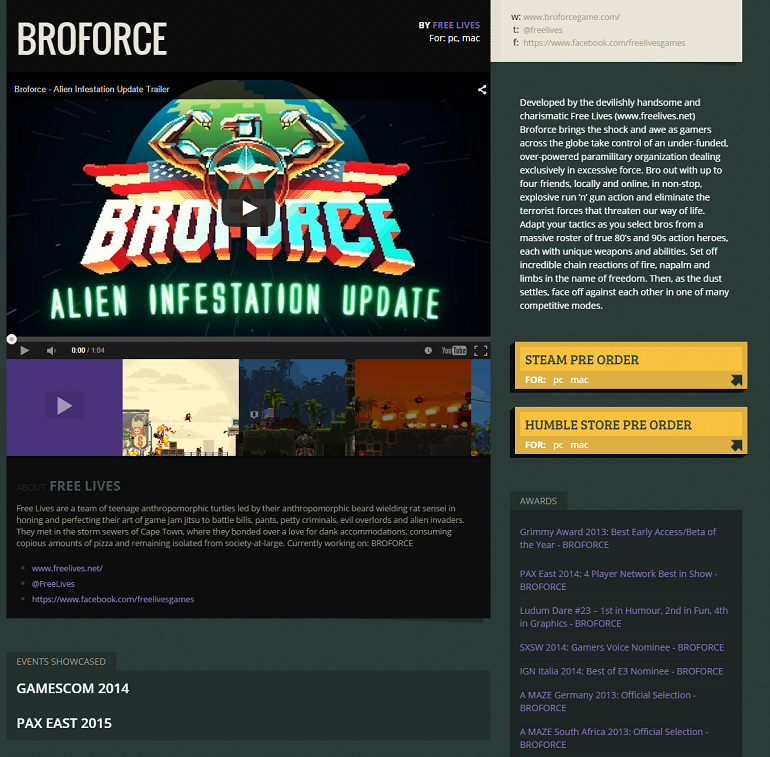Broforce presskit