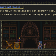 Buying goods from the Merchant Crow.