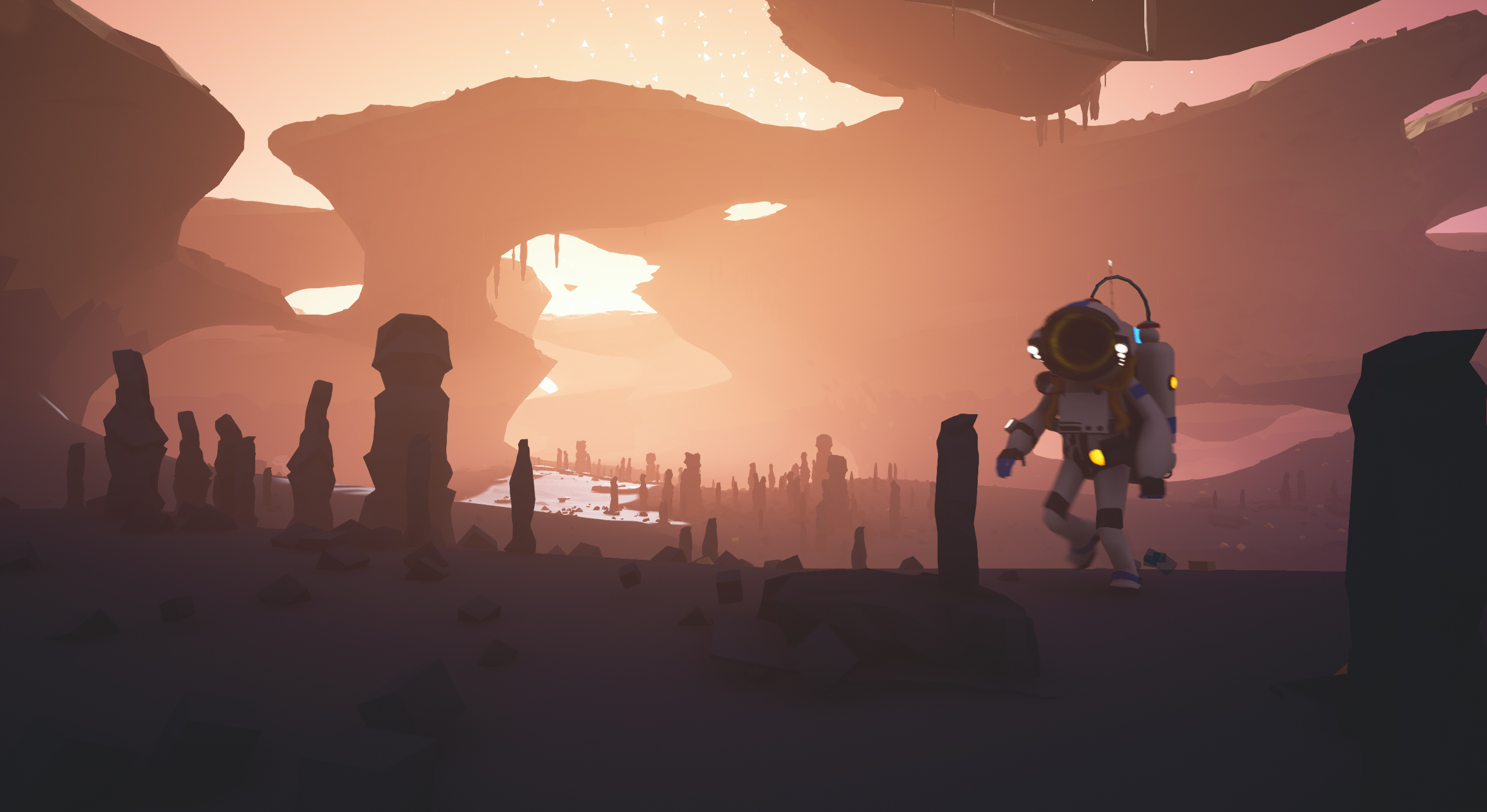 Astroneer indie megabooth for Wallpaper used in your home in their hands